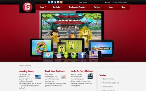 Screenshot of Services Page 3gstudiosinc.com captured Sept. 30, 2014