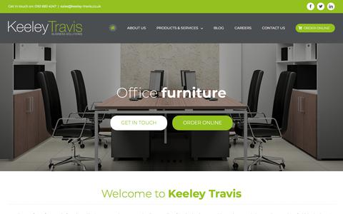 Screenshot of Home Page keeley-travis.co.uk - Photocopier & Printer Suppliers Manchester | Office Furniture | Telecoms - captured Sept. 20, 2018