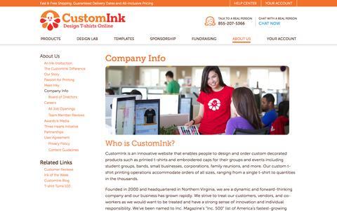 CustomInk - Company Info