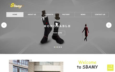 Screenshot of Home Page sbamy.com - WUXI SBAMY INTERNATIONAL TRADING CO.,LTD - captured Nov. 27, 2017