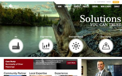 Screenshot of Home Page tgcl.ca - Home | True Grit Consulting Ltd. - captured Oct. 9, 2014