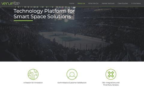Screenshot of About Page venuetize.com - About Us | Venuetize - captured July 13, 2018