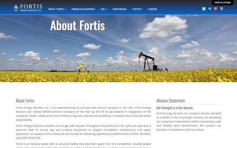 Screenshot of About Page fortisenergyservices.com - Fortis Energy Services, Inc. | About Fortis - captured July 13, 2019