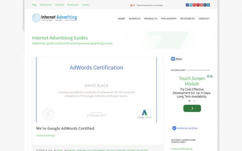 Screenshot of Blog ppcsuccess.co.uk - Internet Advertising Guides - Google AdWords PPC Advertising Consultants UK - captured Oct. 28, 2014
