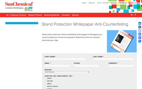 Brand Protection Whitepaper Anti-Counterfeiting | Sun Chemical