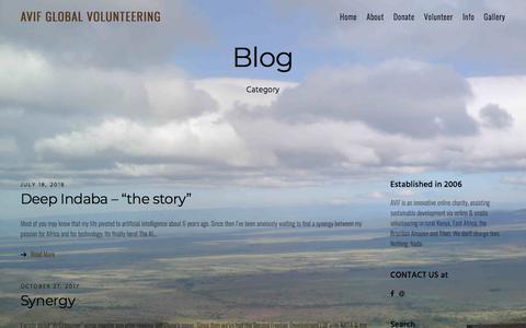 Screenshot of Blog avif.org.uk - Blog - AVIF Global Volunteering - ABLe Volunteers International Fund - captured July 28, 2018