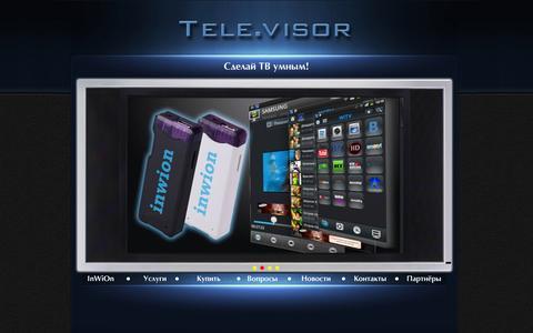 Screenshot of Home Page tele-visor.ru - Tele.Visor - captured Jan. 26, 2015