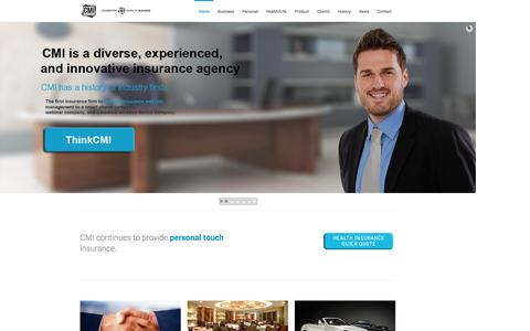 Screenshot of Home Page thinkcmi.com - Insurance Agency in San Diego | Best Insurance Quotes - captured Oct. 1, 2014