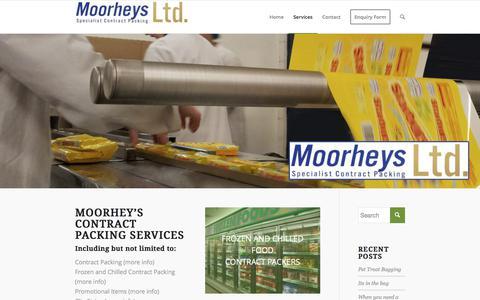 Screenshot of Services Page moorheys.co.uk - Services - Moorheys - captured June 13, 2017