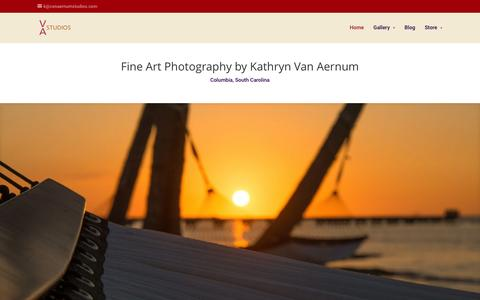 Screenshot of Home Page kvanastudios.com - Columbia, SC – Fine Art Black and White and Color Photography by Kathryn Van Aernum - captured Jan. 12, 2016
