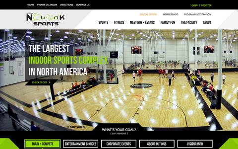 Screenshot of Home Page spookynooksports.com - Spooky Nook | An Indoor Sports Complex & Facility for Teams, Tournaments, Sports Training, Sports Clinics, Fitness, & More! - captured Sept. 25, 2014