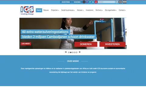 Screenshot of Blog ics.nl - Onze missie - captured Oct. 3, 2014