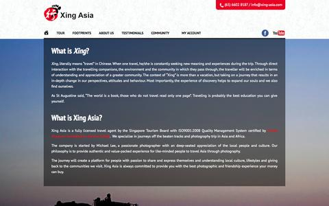 Screenshot of About Page xing-asia.com - Xing Asia - captured Oct. 7, 2014
