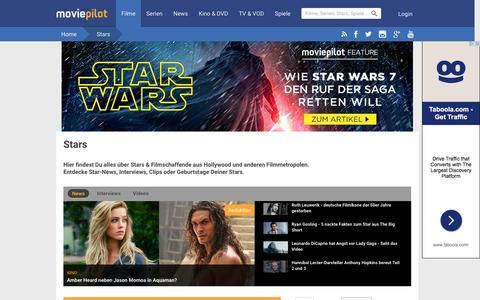 Screenshot of Team Page moviepilot.de - Alle Stars | Schauspieler & Filmschaffende | moviepilot.de - captured Jan. 13, 2016