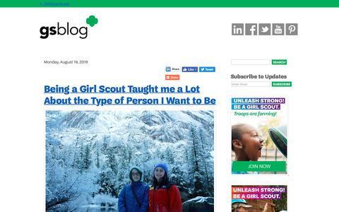 Screenshot of Blog girlscouts.org - Girl Scout Blog - captured Aug. 19, 2019