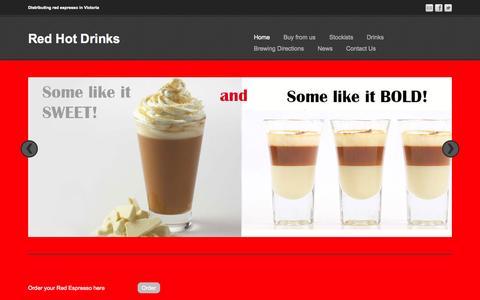 Screenshot of Home Page redhotdrinks.com.au - RedHotDrinks - captured July 16, 2015