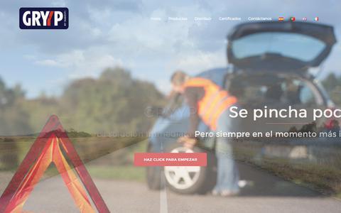 Screenshot of Home Page gryyp.com - Inicio - - captured Sept. 21, 2017