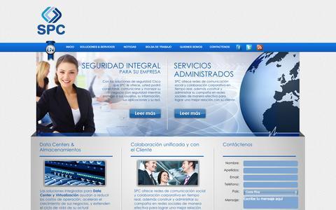 Screenshot of Home Page spcinternacional.com - SPC Internacional - captured Sept. 30, 2014