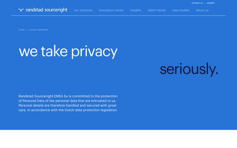 Privacy Policy & Statement | Randstad Sourceright