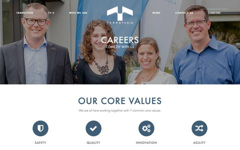 Screenshot of Jobs Page terrafugia.com - Careers | Join Our Team | Terrafugia - captured Nov. 3, 2018