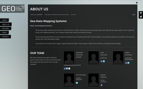 Screenshot of About Page geo-data.co.ke - ABOUT US - captured Oct. 2, 2014