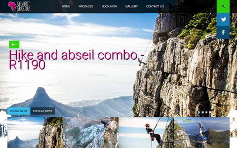 Screenshot of Home Page abseilafrica.co.za - Abseil Africa - captured March 14, 2016