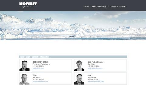 Screenshot of Team Page norbit.no - Management   Norbit - captured Nov. 4, 2014