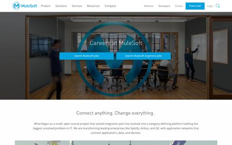 Screenshot of Jobs Page mulesoft.com - Careers home page   Mulesoft - captured June 15, 2018
