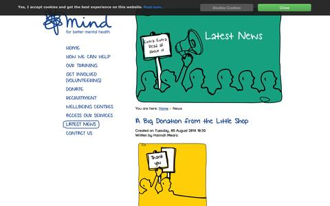 Screenshot of Press Page bedsandlutonmind.org.uk - News | Mind - BLMK - captured Oct. 5, 2014