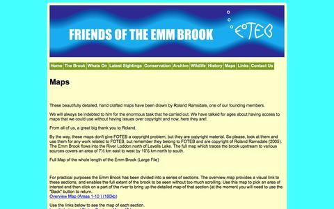 Screenshot of Maps & Directions Page foteb.org.uk - foteb.org.uk | Friends of the Emm Brook - captured June 11, 2016