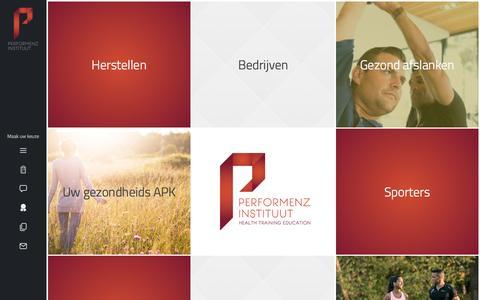 Screenshot of Home Page performenz-instituut.nl - Performenz Instituut in Venlo - Onze passie, uw leven in balans! - captured Nov. 5, 2016