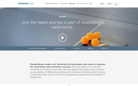 Screenshot of Jobs Page demandbase.com - Join the Demandbase Team! :: Demandbase B2B Marketing - captured July 21, 2014