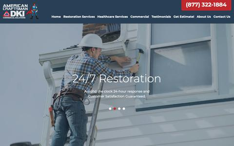 Screenshot of Home Page americancraftsman.net - American Craftsman | Expert Restoration Services - captured Oct. 3, 2018