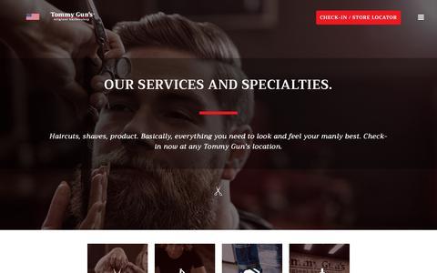 Screenshot of Services Page tommyguns.com - Services – Tommy Gun's Original Barbershop - captured Nov. 16, 2018