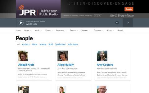 Screenshot of Team Page ijpr.org - People | Jefferson Public Radio - captured Sept. 22, 2018