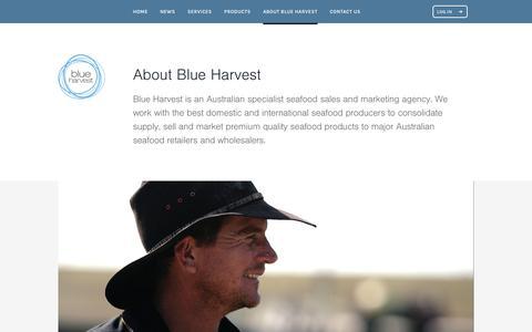 Screenshot of About Page blueharvest.com.au - About Blue Harvest • Blue Harvest - captured Oct. 10, 2017