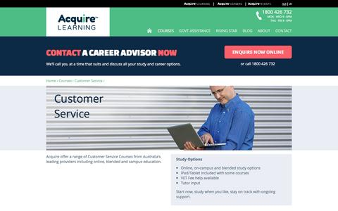 Screenshot of Support Page acquirelearning.com.au - Customer Service | Acquire Learning - captured Sept. 23, 2014