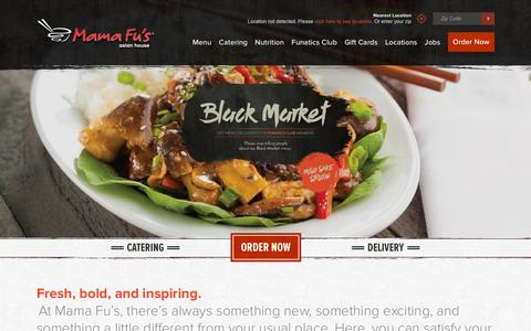 Screenshot of Home Page mamafus.com - Home - Mama Fu's Asian-Style Restaurant & Catering - Mama Fu's - captured Dec. 1, 2015