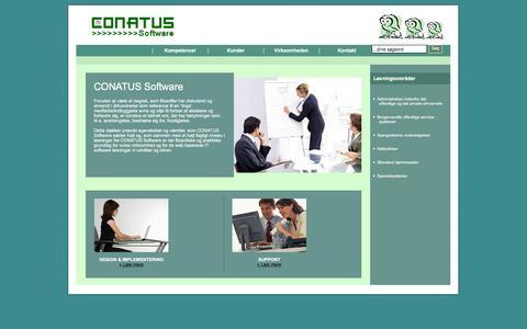 Screenshot of Home Page conatussoftware.dk - Effektive Internet L�sninger - captured Dec. 10, 2015