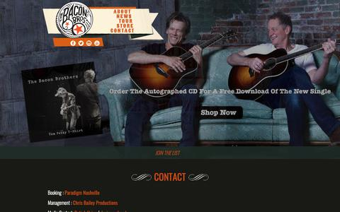 Screenshot of Contact Page baconbros.com - Contact | Bacon Brothers - captured Oct. 3, 2018