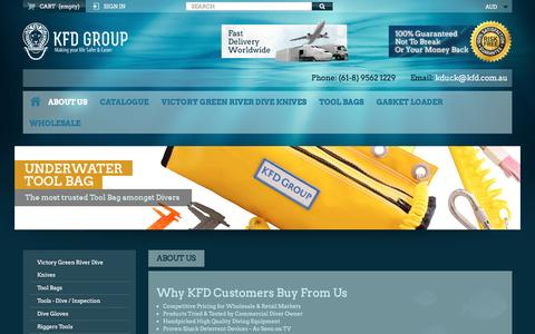 Screenshot of About Page kfd.com.au - About Us - KFD Group - captured Nov. 27, 2016
