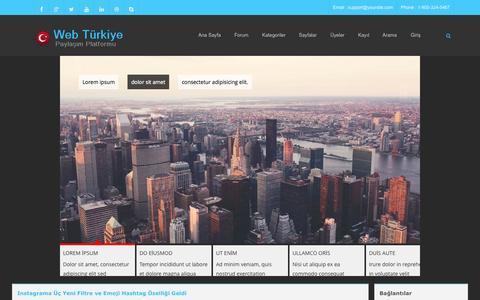 Screenshot of Home Page web-turkiye.biz - Web Türkiye Teknoloji Portalı ve Web Platformu - captured Nov. 13, 2015