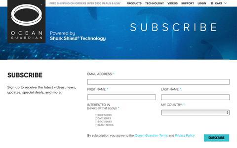 Screenshot of Signup Page sharkshield.com - Sign Up - Shark Shield - captured Oct. 18, 2018