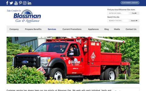 Screenshot of Services Page blossmangas.com - Propane Services | Blossman Gas & Appliance - captured Dec. 9, 2018