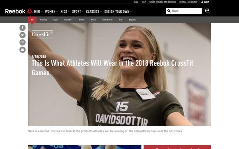 Screenshot of Blog reebok.com - Reebok Blog - fitness.reebok.com - captured July 31, 2018
