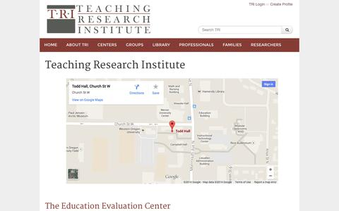 Screenshot of Maps & Directions Page teachingresearchinstitute.org - TRI: The Teaching Research Institute - captured Oct. 9, 2014