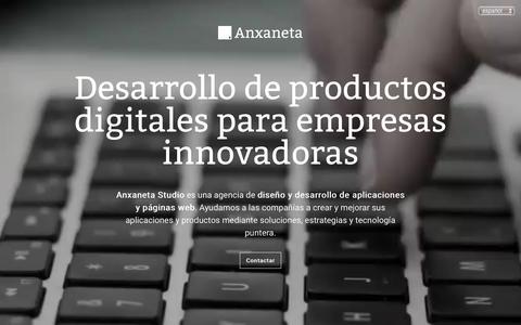 Screenshot of Home Page anxaneta.com - Anxaneta Studio   Diseño y desarrollo de aplicaciones y web - captured Oct. 3, 2018