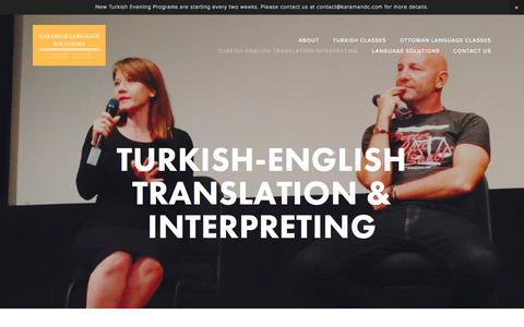 Screenshot of Locations Page karamandc.com - Turkish-English Translation & Interpreting — Karaman Language Solutions - captured Oct. 16, 2017