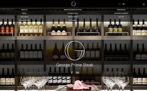 Screenshot of Home Page georgeprimesteak.com - George Prime Steak - The Best Steaks in Prague - captured June 18, 2015