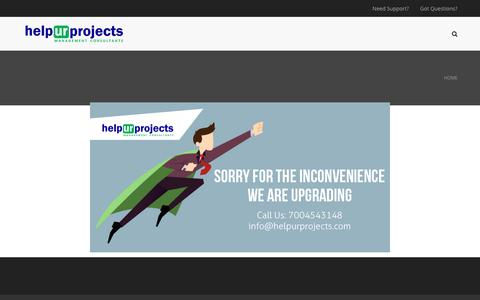 Screenshot of Home Page helpurprojects.com - helpurprojects | management consultants – Brand, Marketing and Business Consultancy - captured Dec. 16, 2018